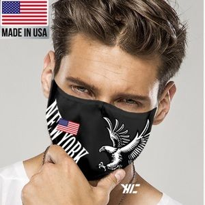 Made USA NEW YORK Strong 2-Layer Reusable FaceMask